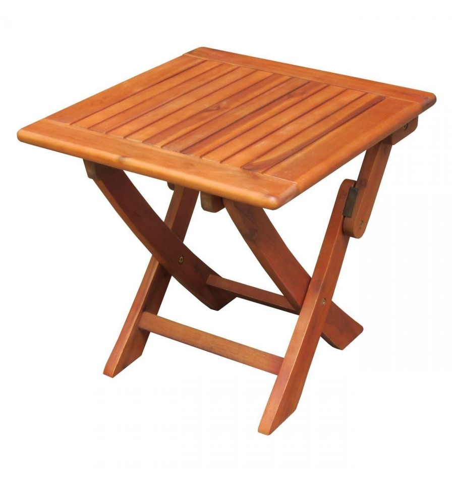 Ot 53938 Outdoor Side Table Square Folding Oil Dipped