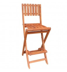 S-53928 Folding Bar Stool | 30H | Oil Dipped