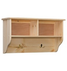 [32 Inch] Amish Double Cubby Wall Shelf
