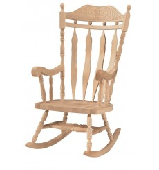 Carved Back Rocker