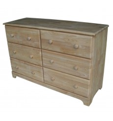 [50 Inch] Jamestown 6 Drawer Dresser