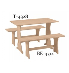 [43 Inch] Trestle Solid Dining Table