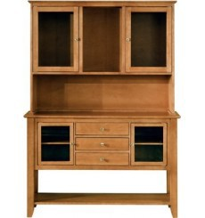 Cosmopolitan Hutch & Buffet - Dark Walnut