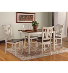 [48 Inch] 5 Pc San Remo Dining Group - Shown in Khaki & Espresso